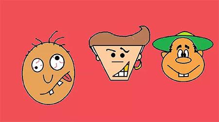نقاشی چهره های کارتونی,آموزش کشیدن چهره کارتونی,آموزش کشیدن چهره کارتونی خنده دار
