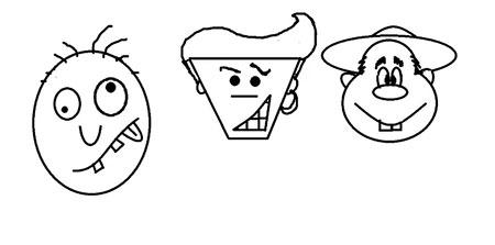 نقاشی چهره های کارتونی,آموزش کشیدن چهره کارتونی,آموزش کشیدن چهره خنده دار