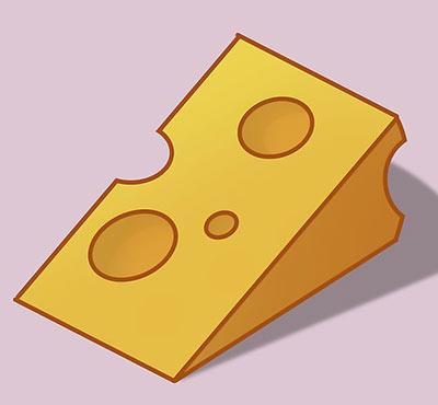 نقاشی پنیر,پنیر کارتونی,آموزش کشیدن نقاشی پنیر