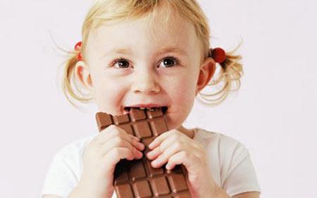 عوارض مصرف شکلات در کودک,شکلات کاکائویی,خطرات مصرف شکلات کاکائویی برای کودکان