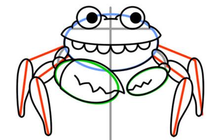 آموزش نقاشی حیوانات,نقاشی خرچنگ,آموزش کشیدن نقاشی به کودکان