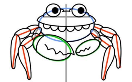 آموزش کشیدن خرچنگ,نقاشی خرچنگ,سرگرمی کودک