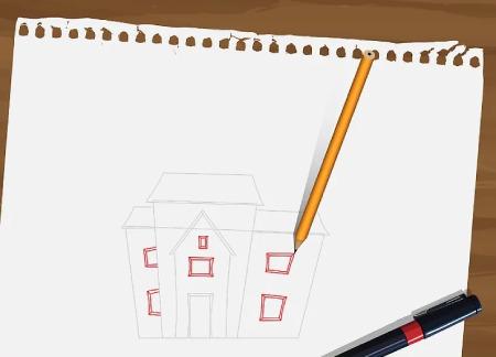 تصاویر نقاشی خانه,نقاشی خانه,طرح ساده نقاشی خانه
