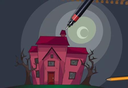 نقاشی خانه,زیباترین نقاشی خانه,نقاشی خانه زیبا با مداد