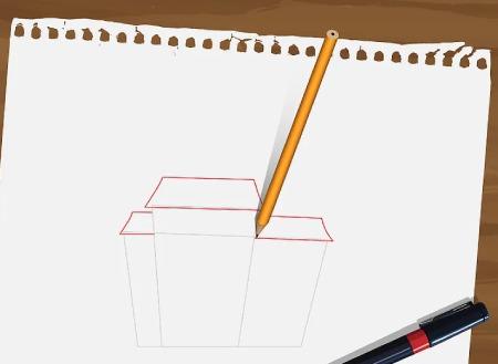 نقاشی خانه,اموزش گام به گام نقاشی خانه,نقاشی خانه با مداد