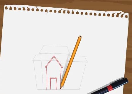 نقاشی خانه,تصاویر نقاشی خانه,نقاشی خانه با مداد