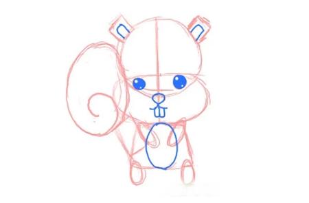 نقاشی سنجاب,عکس کارتونی سنجاب,خلاقیت کودک