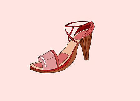 نقاشی کفش زنانه,آموزش کشیدن نقاشی کفش زنانه,نقاشی کفش