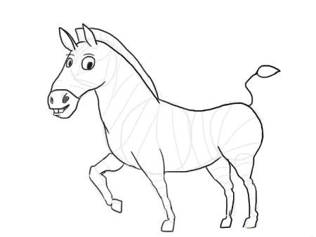 نقاشی گورخر,عکس آموزش نقاشی گورخر,نحوه کشیدن نقاشی گورخر