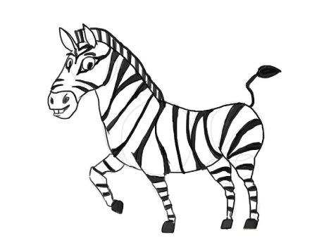 نقاشی گورخر,آموزش گام به گام نقاشی گورخر,نحوه کشیدن نقاشی گورخر