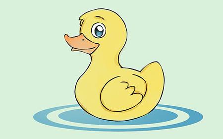 نقاشی جوجه اردک,نقاشی اردک,آموزش کشیدن نقاشی جوجه اردک