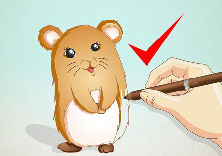 نقاشی همستر,نقاشی کردن همستر,آموزش کشیدن نقاشی همستر
