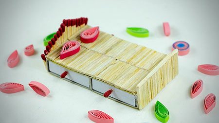 کاردستی با چوب کبریت,طرح های کاردستی با چوب کبریت,ساخت کاردستی با چوب کبریت