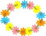 حلقه گل جشن تولد (کاردستی)
