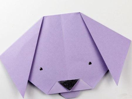 اوریگامی سگ,طرز تهیه اوریگامی سگ,نحوه ایجاد اوریگامی چهره سگ