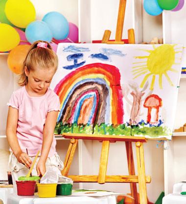 نقاشی کودک,بهترین کلاس ها برای کودک,افزایش تمرکز کودک
