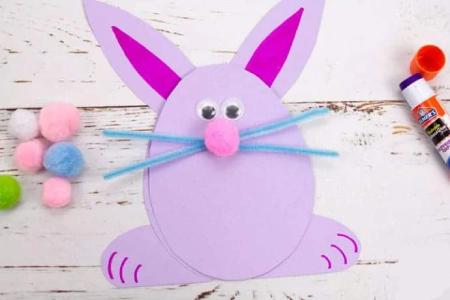 کاردستی خرگوش,کاردستی خرگوش با کاغذ,ساخت کاردستی خرگوش با مقوا
