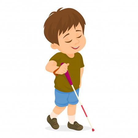 کودک نابینا,کودکان نابینا,تربیت کودک نابینا