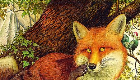 قصه روباه و خروس,قصه کودکانه روباه و خروس,داستان کودکانه روباه و خروس
