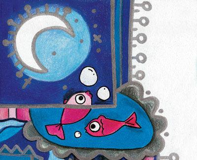 قصه کودکانه ماهی و ماه