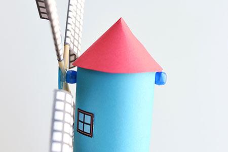 کاردستی آسیاب بادی,آموزش کاردستی آسیاب بادی,مراحل ساخت کاردستی آسیاب بادی