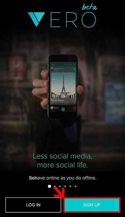 شبکه های اجتماعی, اموزش ساخت اکانت vero