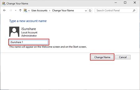 نحوه تغییر نام حساب کاربری در ویندوز 10, تغییر نام کاربری در ویندوز 10