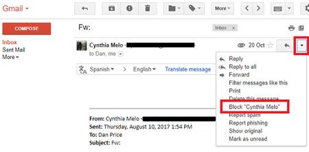 رهایی از ایمیل های مزاحم, چگونگی حذف ایمیل های مزاحم