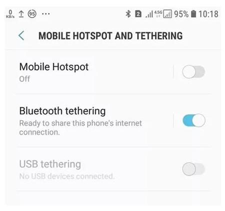 تنظیمات اینترنت گوشی همراه اول, ارسال اینترنت همراه از گوشی به کامپیوتر