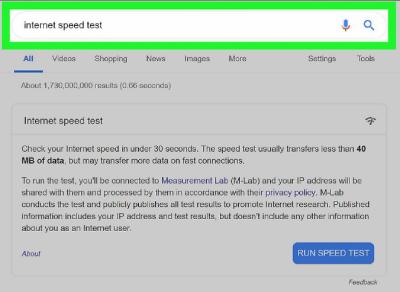 نحوه بررسی سرعت اینترنت, وب سایت بررسی سرعت اینترنت
