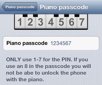 مطالب داغ: آیفون و Piano Passcode