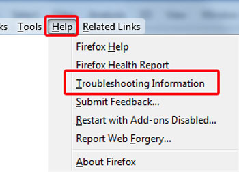 ترفند فایرفاکس, ریست کردن فایرفاکس