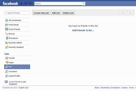 مرتب کردن پروفایل فیس بوک, فیس بوک فارسی
