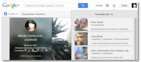 ترفند گوگل پلاس, کلیدهای میانبر, صفحه کلید