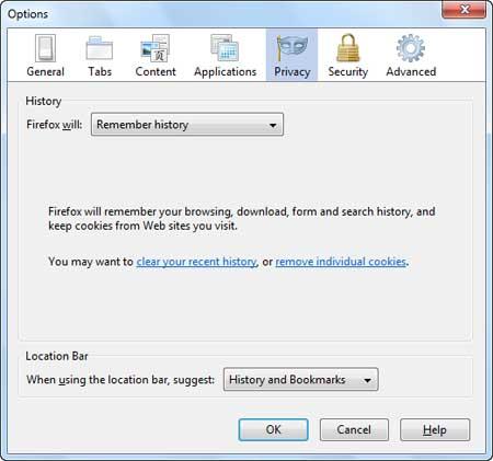 مرورگر Mozilla Firefox ,  تنظیمات مرورگر , ترفندهای اینترنتی