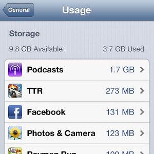 استفاده از بیشترین فضای آیفون, iphone,