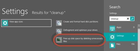 برنامه Disk Cleanup