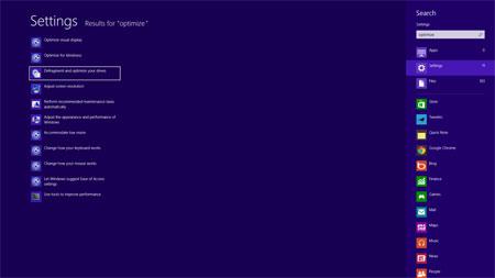 برنامه Disk Defragmenter,ویندوز8