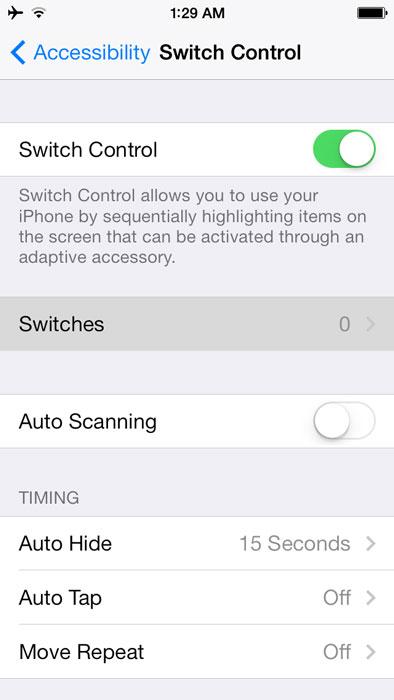 آیفون, ترفندهای موبایل, کنترل آیدیوایس