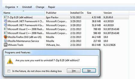 حذف همزمان چندین برنامه, مشکلات ویندوز, نرم افزار