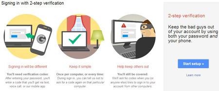 حساب ایمیل, افزایش امنیت گوگل, جیمیل