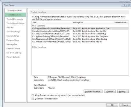 فایل مسدود, نرم افزار آفیس