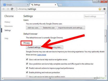 بلاک کردن پنجرههای pop ups, اپلیکیشن
