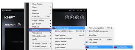 زیرنویس kmplayer, تنظیم زیرنویس kmplayer