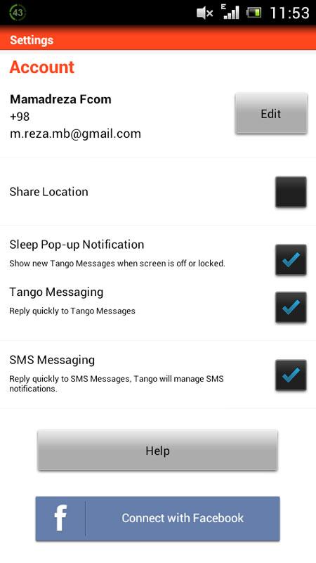ایجاد اکانت در تانگو, ترفندهای تانگو-ایجاد اکانت در تانگو- ترفندهای تانگو- بلاک کردن افراد در تانگو - نرم افزار موبایل-tango-آموزش تانگو-نرم افزارهای اجتماعی-نرم افزار Tango-اموزش تصویری-حذف اکانت