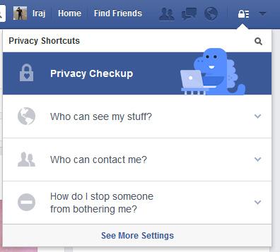 صفحه فیسبوک, تنظیمات فیسبوک