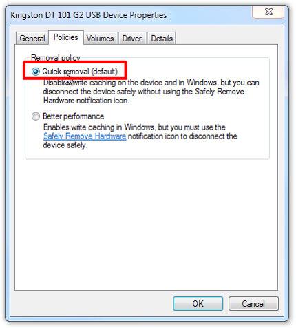 خرابی فلش دیسک, سیستم عامل ویندوز