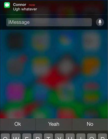 سیستم عامل iOS 8 , گوشی آیفون