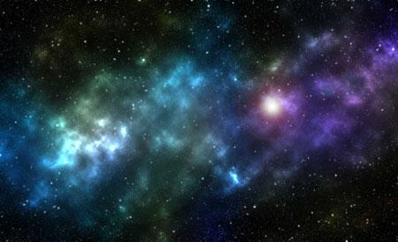 ساخت کهکشان در فتوشاپ