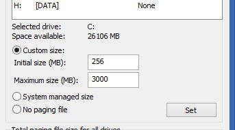 سیستم عامل ویندوز, افزایش حافظه ویندوز